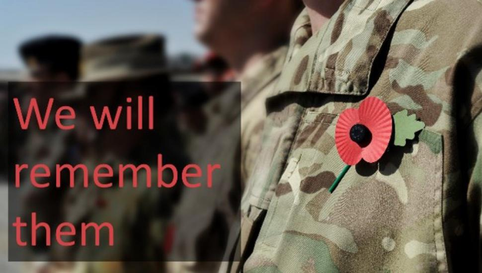 """Graphic saying """"We Will Remember Them"""""""