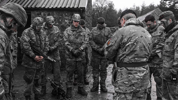 Praying with the troops